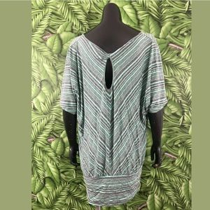 Pure Energy Tops - Pure Energy Plus Size 2X Striped Top